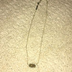 Kendra Scott gold drusy Elisa necklace